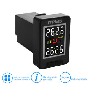 Car Lcd Display Tpms Tire Pressure Monitoring System 4 Sensor For Toyota Ma1759