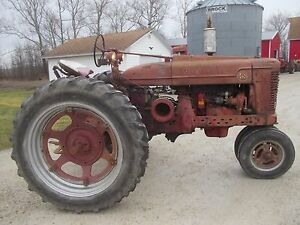1947 Farmall M Tractor M w Mw Hand Clutch Pto Lights Work Runs Great Belt Pulley