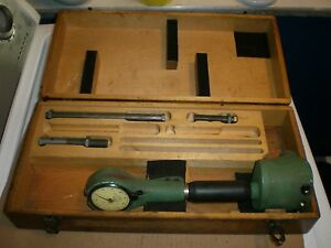 Federal Dial Bore Gauge Set With Wooden Storage Box