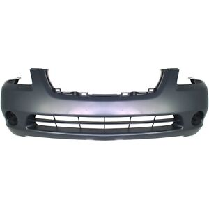 Bumper Cover For 2002 2003 2004 Nissan Altima S Se Sl Model Front Plastic Primed