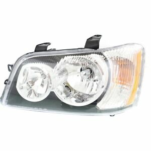Headlight For 2001 2003 Toyota Highlander Left Clear Lens Halogen With Bulb