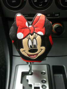Minnie Mouse Disney Car Accessory Red Automatic Shift Knob Gear Stick Cover