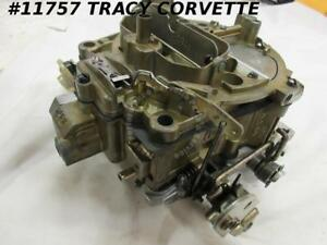 1969 Corvette Rebuilt 7029207 Rochester Q Jet Carburetor 350 Manual Dated 2518