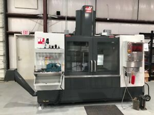 Used Haas Vf 4 Cnc Vertical Mill 2018 Probes Auger Wifi Mint Condition