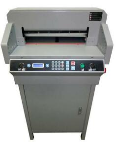 Electric Paper Cutter 18 2 460mm not China 450mm 17 7 Separate Clamp Motor