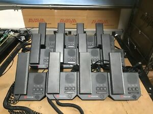Lot Of 12 Polycom Cx200 Usb Voip Business Office Phone W Handsets And Cables