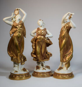 3 Volkstedt Classical Figures