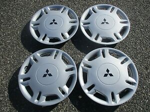 1995 To 1999 Mitsubishi Mirage 13 Inch Hubcaps Wheel Covers Set Mint Factory
