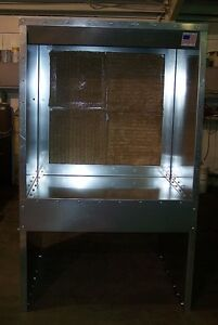 8 Bench Powder Coating Spray Paint Booth With Light