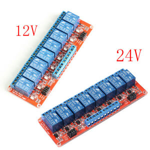 12v 24v 8 channel Relay Module With Optocoupler H l Level Triger For Arduino Lot