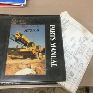 Grove At750b Truck Crane Parts Manual Book Catalog All terrain Hydraulic Guide