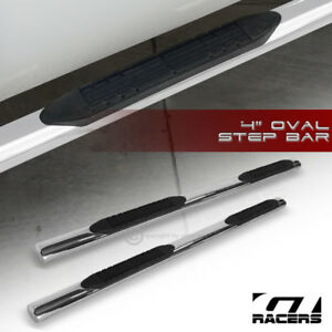 For 2004 2008 F150 Super Cab 4 Oval Chrome Side Step Nerf Bars Running Boards