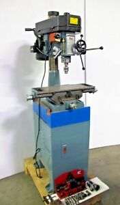Enco Mill Drill Milling Drilling Machine R8 Bridgeport Spindle Tooling 1 Phase