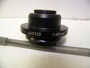 Wild Leica Microscope 445325 Camera C mount Adapter F 85 Mm Surgical 10445325