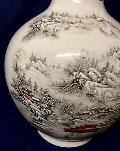 Uf Collection Exquisite Chinese Porcelain Vase W Hand Painted Mark