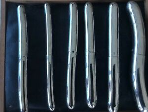 Antique 19 Century Doctor Medicine Anal Tool In Box Chrome Plated Metall French