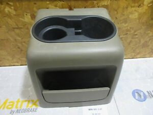 2004 2008 Ford F 150 150 Front Center Console Cup Holder Cupholder Tan Brown Oem