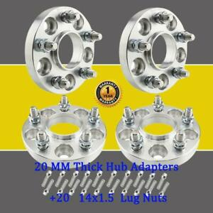 4 Wheel Spacers 5x112 To 5x114 3 20mm Thick Adapters For Audi S4 S5 20 Lug Nuts