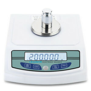 Lcd Lab Analytical Precision Balance Digital Scale 300 X 0 001g 200g Weight
