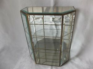 Small All Glass Display Case Beveled Glass 14 1 2 Tall