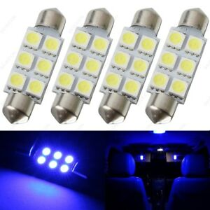 4 X Blue 41mm 42mm 6smd 5050 Festoon Dome Map Led Light 578 211 2 212 2 Tool
