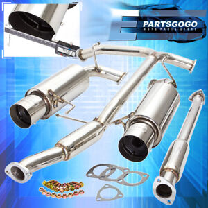 For 98 02 Honda Accord V6 Racing Catback Exhaust System 4 5 Dual Muffler Tip