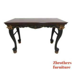 Baker Furniture Chinoiserie Dragon Head Claw Feet Cosole Table Server Bar