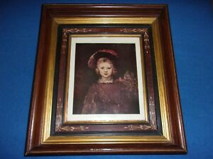 Scarce Large Antique Ornate Victorian Black Walnut Shadow Box Picture