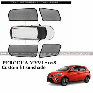 Car Window Sunshades Sun Shades Sun Visor For Perodua Myvi Yr 2018 4pcs