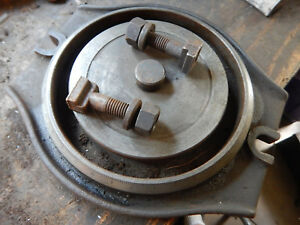 Older Bridgeport 6 Milling Mill Vise Swivel Base Casting W Bolts