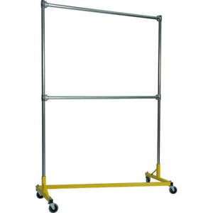 Z rack Heavy Duty Clothes Rack 60 L X 84 Uprights Double Rail Yellow 260842y