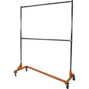 Z rack Medium Duty Clothes Rack Double Rail Orange 624722