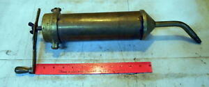 Antique Brass Grease Gun Large G759 Steam Engine Hit miss Engine Tractor