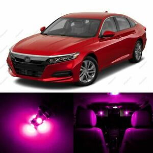 14 X Pink purple Led Lights Interior Package For Honda Accord 2013 2021 Tool