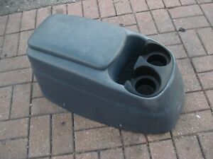 99 03 Ford F150 Center Floor Console Cup Holder Storage Blue