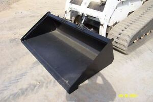 New 66 Long Bottom Mulch Bucket Skid Steer Loader New Holland John Deere Bobcat