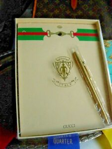 Handsome Ultra Rare Vintage Gucci Monogram Tablet Note Writing Paper Stationery