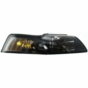 Headlight For 2001 2004 Ford Mustang Right Clear Lens Black Interior Capa