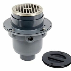 Oatey True Tp312n 3 Fpt Gray Pvc Round Tost Flange Floor Drain