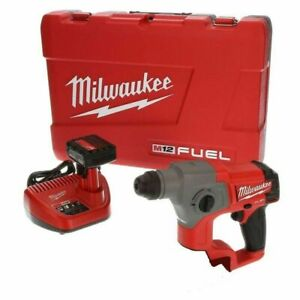 Milwaukee 2416 21xc 12 volt 5 8 inch 4 0ah M12 Fuel Sds plus Rotary Hammer Kit