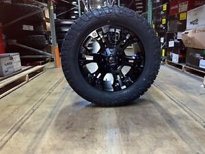 20x9 D560 Fuel Vapor Black Wheels 33 Fuel At Tires Package 5x150 Toyota Tundra