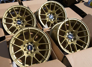 Used Set 15x8 Xxr 530 4x100 114 3 20 Gold Rims Aggressive Fits Miata Civic Xb