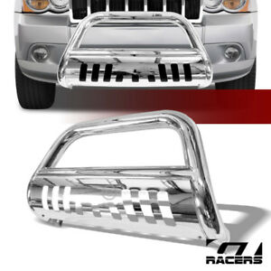 For 2008 2010 Jeep Grand Cherokee S S Chrome Bull Bar Brush Bumper Grille Guard