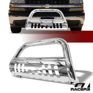 For 1999 2006 Chevy Suburban Tahoe Stainless Bull Bar Brush Bumper Grille Guard