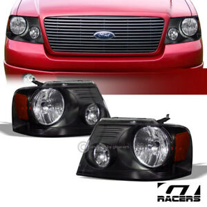 For 2004 2008 Ford F150 2006 Mark Lt Blk Headlights Lamps Turn Signal Amber Dy