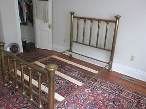 Antique Vintage Full Sized Brass Bed Heavy Weight Brass