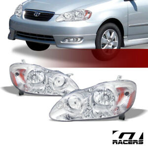 For 2003 2008 Toyota Corolla Oe Chrome Housing Headlights Signal Lamps Amber Dy
