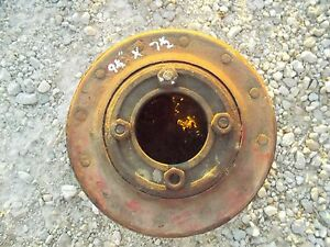 Farmall H Hv 300 350 Sh Tractor Ihc Paper Belt Pulley 9 1 2 Ready T Use
