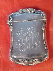 Antique Sterling Silver Match Safe Case