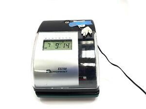 Acroprint Es700 Time Recorder Time Clock Document Stamp With Keys Ac Adapter